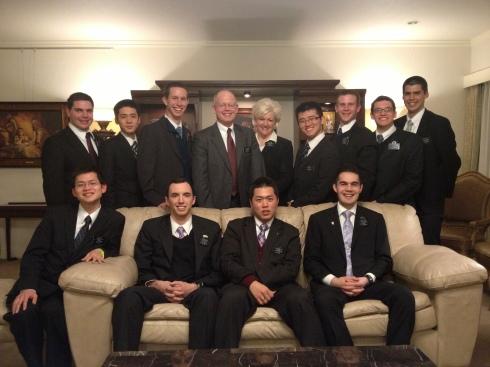 Elders Hale, Shimizu, Pearson, Jou, Cluff, Maris, Vilchis, Takeda, Delmege, Shigeta, and Tukukino