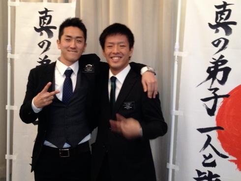 Elders Sakamoto and Yamaguchi