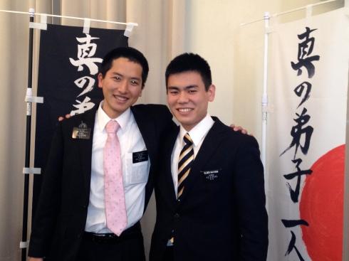 Elders Kawabata and Hayashi