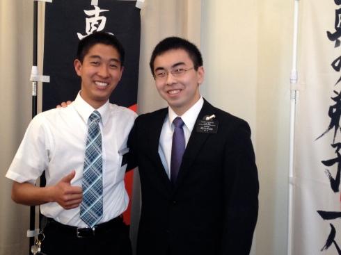Elders Nukaya and Yamamoto
