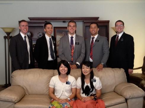 August Returning Missionaries